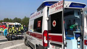 Scontro tra moto e furgone in un incidente a Peveragno: un ferito