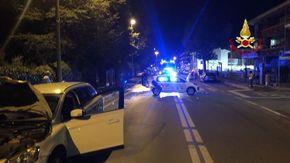 Cinque feriti in uno scontro tra quattro auto in corso Francia a Cuneo