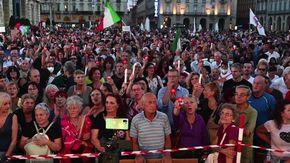 No paura day, in piazza Castello a Torino per dire no al Green Pass