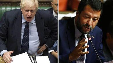 Boris Johnson e Matteo Salvini, i leader che pretendono di parlare a nome di tutti
