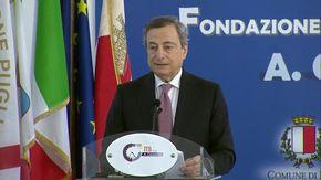 """Bari, Draghi come Steve Jobs: """"A voi giovani spetta costruire il Paese con un pizzico di incoscienza"""""""