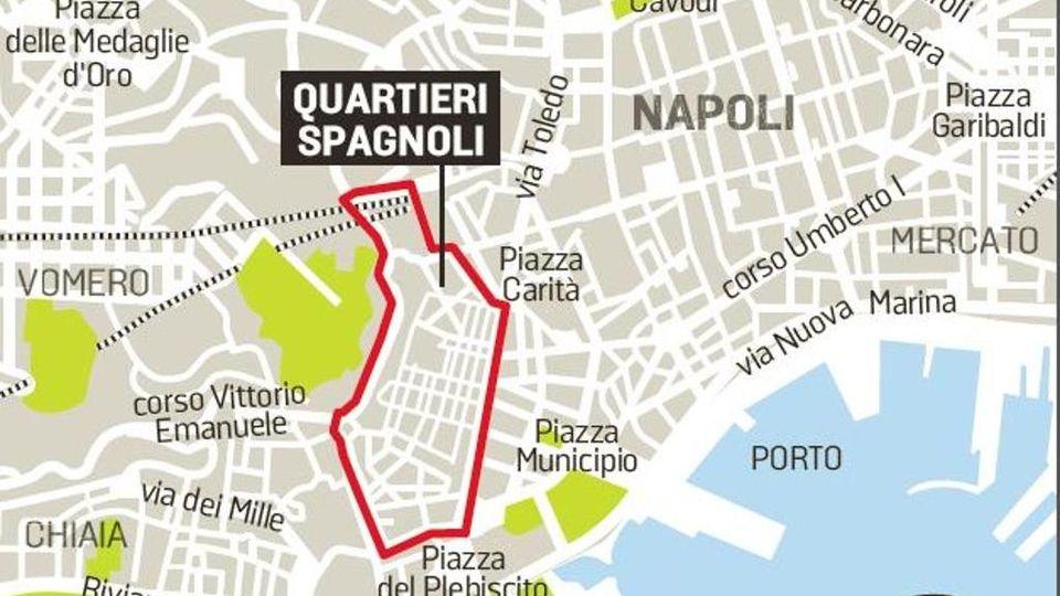 Quartieri Di Napoli Cartina.La Spagna Torna Nei Suoi Quartieri A Napoli I Progetti Contro Il Degrado La Stampa