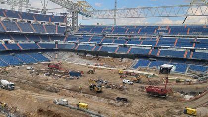 Madrid, il cantiere del nuovo Bernabeu