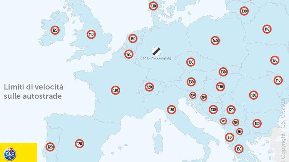 Cartina Autostrade Europa.Autostrade Ogni Paese Ha I Suoi Limiti Di Velocita Ecco La