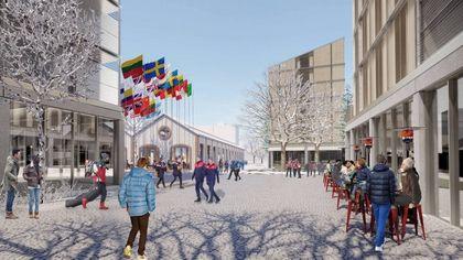 Un villaggio lunare per le Olimpiadi 2026