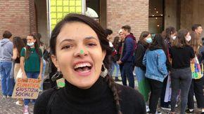 I ragazzi di Fridays for future manifestano ad Asti