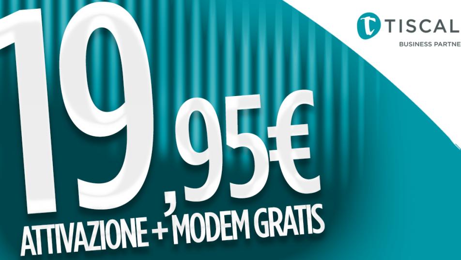 vendite calde prese di fabbrica negozio online Tiscali ADSL 20 Mega da 19,95€ con modem e attivazione compresi ...