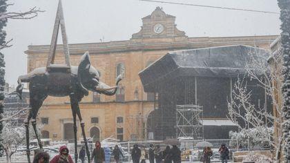 Dalì e i Sassi: cartoline di Matera sotto la neve