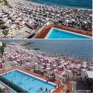 Spiagge, distanziamento e ombrelloni: le foto confronto