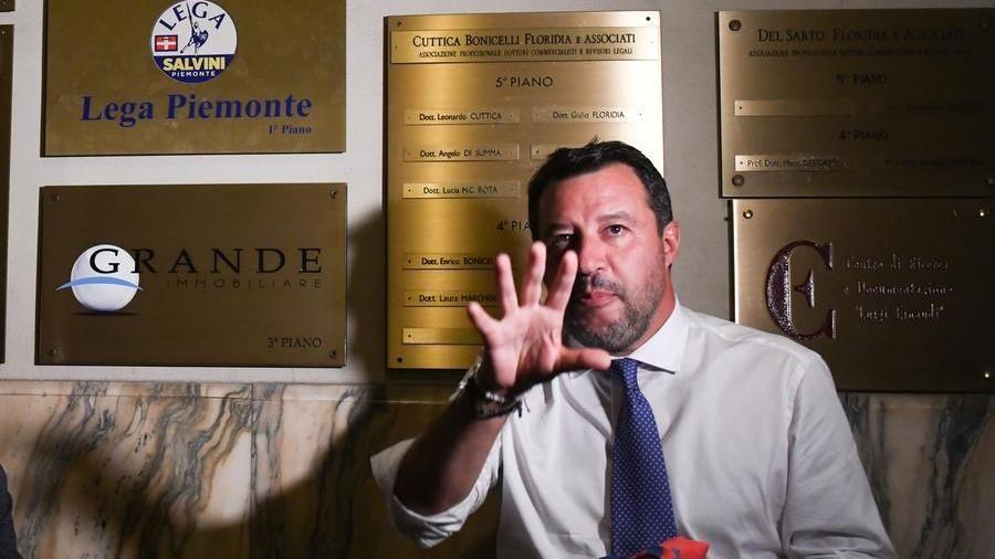 """Salvini a Torino: """"Damilano l'uomo giusto al posto giusto, faremo di tutto per vincere al primo turno"""""""