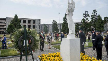 Un angelo bianco nel Cimitero Maggiore: inaugurato monumento in memoria delle vittime del Covid