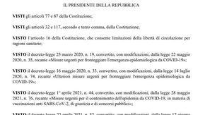 Il testo integrale del decreto sul green pass obbligatorio: ecco il documento in formato .pdf