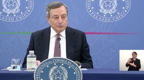 """Pensioni, Draghi: """"Quota 102 ci avvicina al contributivo, non mi aspetto uno sciopero generale"""""""