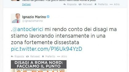 Disagi a Roma Nord, Antonella Clerici scrive a Marino: il dialogo su Twitter