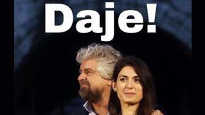 """Amministrative a Roma, Beppe Grillo spinge Virginia Raggi: """"Avanti con coraggio"""""""