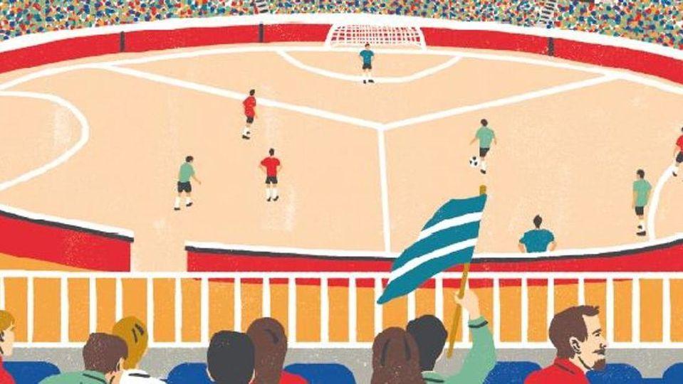 """Calcio a tre porte, sudore e filosofia. """"I gol si fanno ..."""