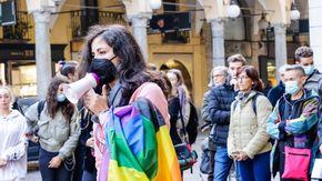 Novara, protesta in piazza contro l'abolizione del DDL Zan