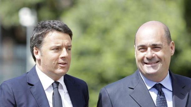 Risultati immagini per Renzi e Zingaretti immagini