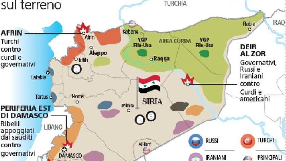Cartina Mondo Emerso.Siria Erdogan E Assad Sull Orlo Della Guerra La Mappa Delle Alleanze La Stampa