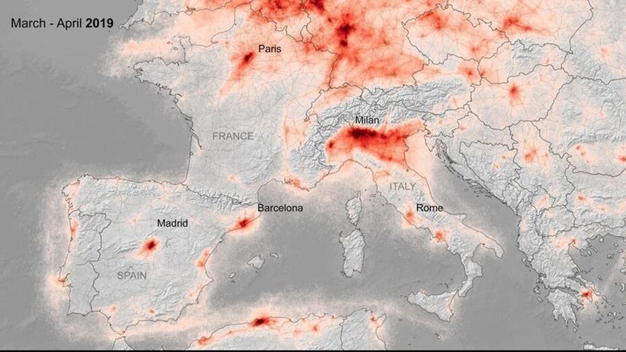 Lockdown, ecco gli effetti sull'inquinamento atmosferico in Europa