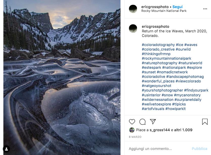 L'incredibile spettacolo creato dalle onde ghiacciate fra le Rocky Mountain