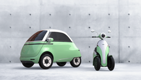After the Microlino, the Microletta: the retro-looking three-wheeled electric scooter from Switzerland