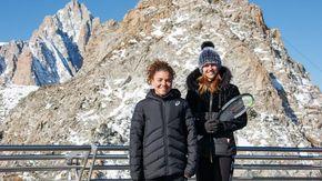 Tennis, Paolini e Samsonova palleggiano a 3.466 metri di altitudine: è record