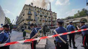 Condominio di piazza Carlo Felice in fiamme, indagato il progettista del recupero dell'ex hotel