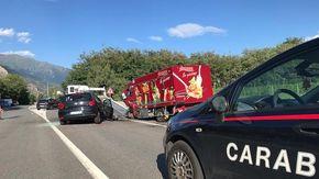 Tre feriti in un incidente stradale sulla Statale 24 a Susa