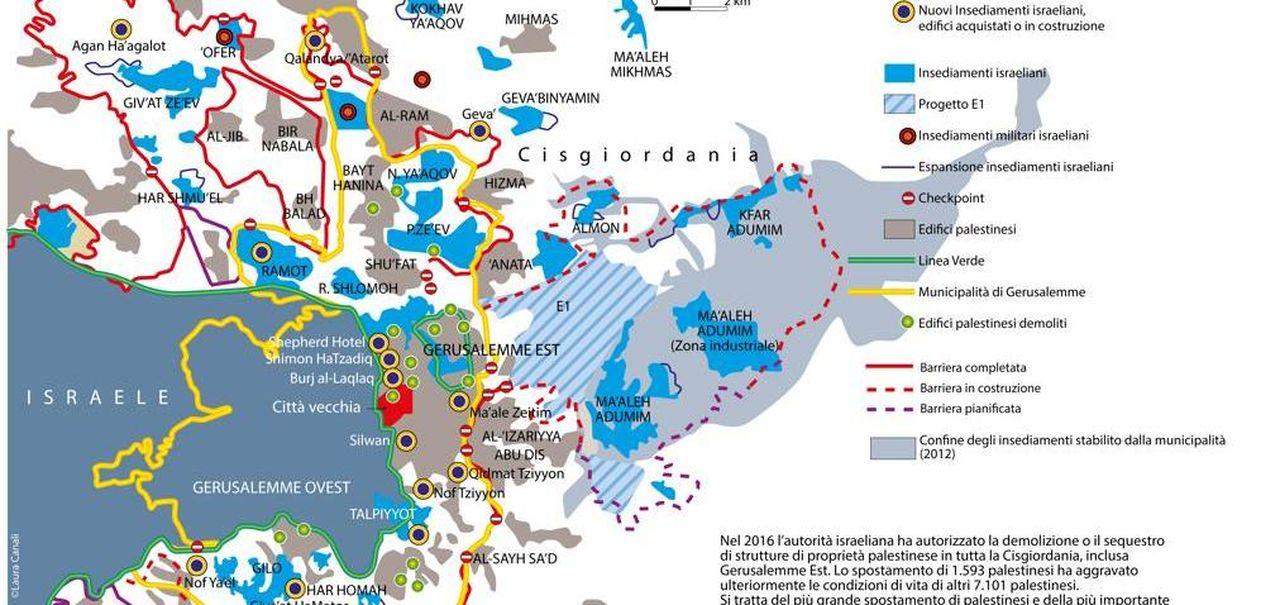 Israele E Palestina Cartina.Insediamenti Gerusalemme E I Due Stati Ecco I Nodi Che Separano Israeliani E Palestinesi La Stampa