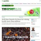 De Rossi, il Guardian si toglie il cappello<br />&quot;Esempio di lealt&agrave; per il mondo del calcio&quot;