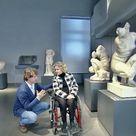 Fiamma Satta con Alberto Angela a spasso tra busti e marmi dell'antica Roma