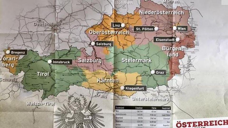 Cartina Geografica Dell Austria.Per Il Diario Scolastico Tirolese L Alto Adige Si Trova In