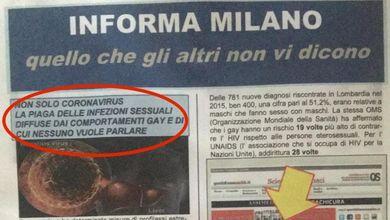 Il giornale omofobo che da 4 anni viene distribuito nelle cassette delle lettere a Milano