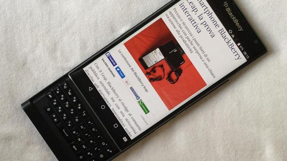 Smartphone BlackBerry Priv, la prova interattiva - La Stampa