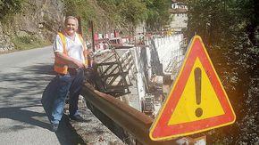 """Polemica per un muro ad angolo sulla strada della valle Strona. Porini: """"Bastava informarsi meglio"""""""