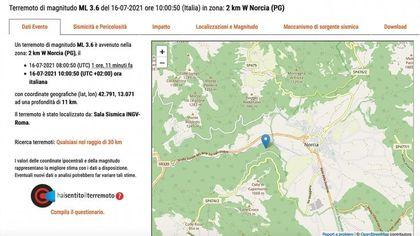 Terremoto a Norcia, le scosse avvertite anche nelle Marche