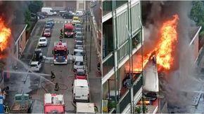 Paura a Torino per un incendio in zona Pozzo Strada