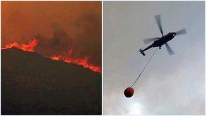 Incendio nell'Oristanese, le fiamme minacciano le case: elicotteri in azione