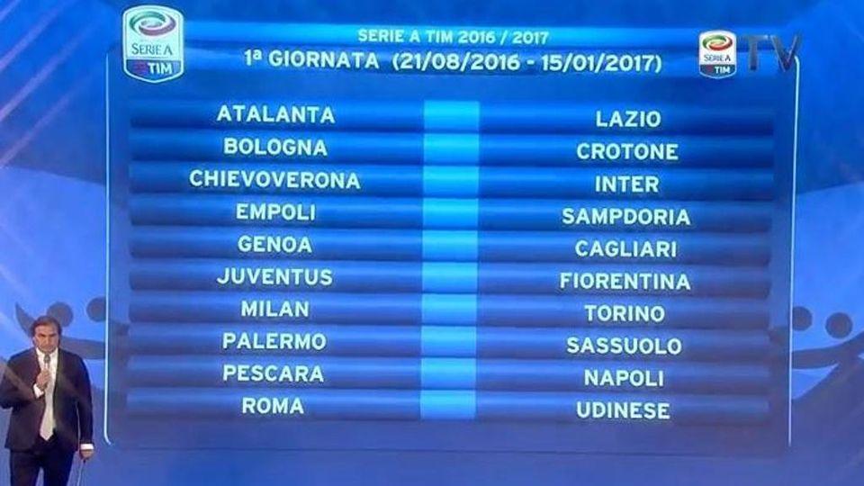 Calendario Juve E Napoli.Calendario Di Serie A E Subito Juve Fiorentina La Stampa