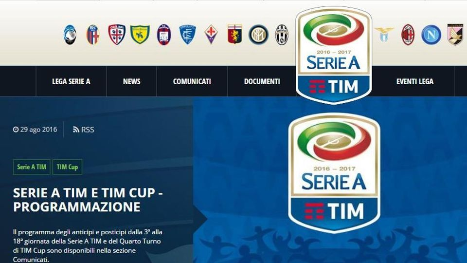 Lega Serie A Tim Calendario.Juve E Toro Tutti Gli Anticipi E Posticipi Di Serie A La