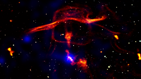 Un fungo atomico esteso per milioni di anni luce
