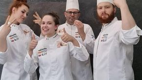 "Le due braidesi nel gruppo che ha vinto la ""Coupe Europe de la Boulangerie"" a Nantes"