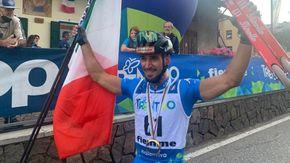 Il bovesano Emanuele Becchis campione del mondo di skiroll per la terza volta