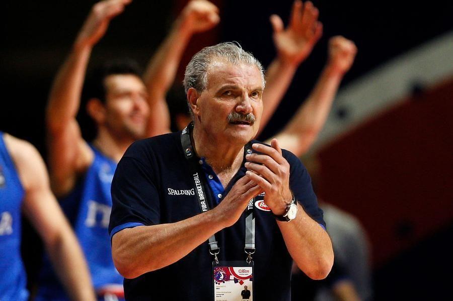 The men's Italbasket coach, Meo Sacchetti