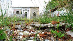 Cimiteri abbandonati: erba alta, cemento rotto e il rischio di una frana