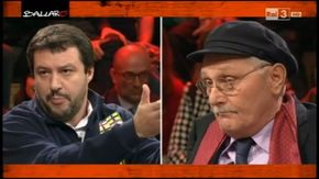 """Lite Salvini-Pennacchi a Ballarò: """"Io fesso? Lei un fesso e mezzo"""""""