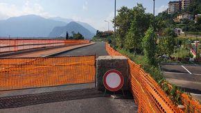 Altri due mesi di lavori per la ciclabile di Verbania: sarà un autunno di disagi sulla statale 34