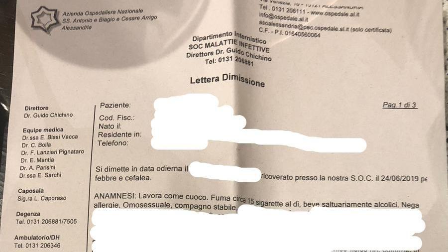 """""""È gay e ha un compagno"""": referto choc dell'ospedaleAlessandria – La Stampa"""