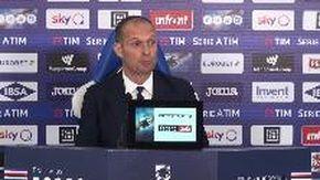 Sampdoria-Juventus, Allegri: «Nessun rimpianto in questi 5 anni»